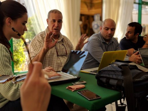 Discussion group in Agadir.